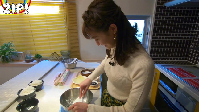 後呂有紗アナとクッキングデート「ごはんでおせんべい作ってみた」10