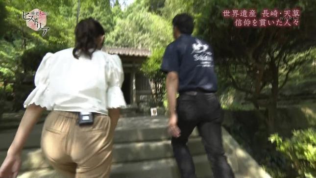 NHK庭木櫻子アナ 階段を上るお尻にパン線!!