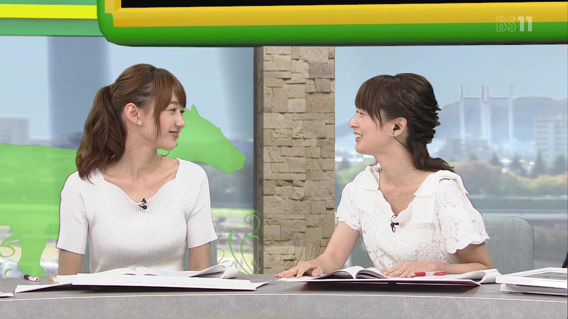 高見侑里アナと高田秋キャスター BSイレブン競馬中継