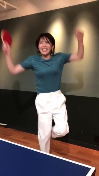 大橋未歩 Twitter 卓球 15