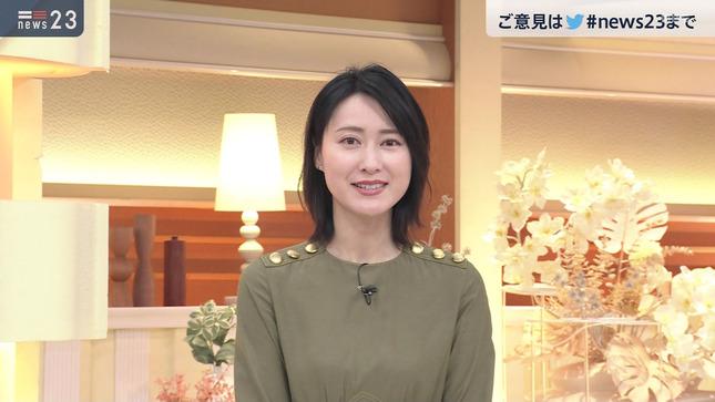 小川彩佳 news23 山本恵里伽 22