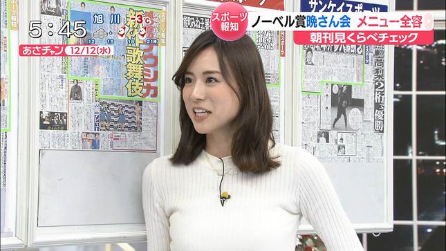 笹川友里アナ 白いニット乳!