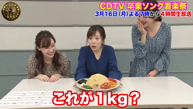 日比麻音子 江藤愛 宇賀神メグ CDTV デカ盛りチャレンジ4