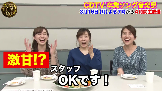 日比麻音子 江藤愛 宇賀神メグ CDTV デカ盛りチャレンジ23