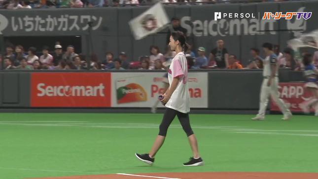 畠山愛理 日本ハム-巨人 始球式 1