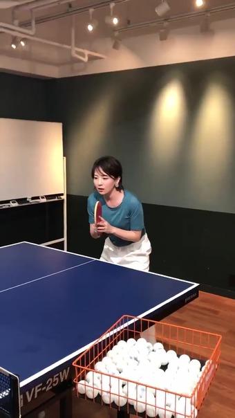 大橋未歩 Twitter 卓球 1