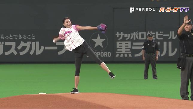畠山愛理 日本ハム-巨人 始球式 24