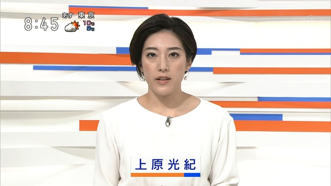 上原光紀 NHKニュース7 首都圏ニュース845 15