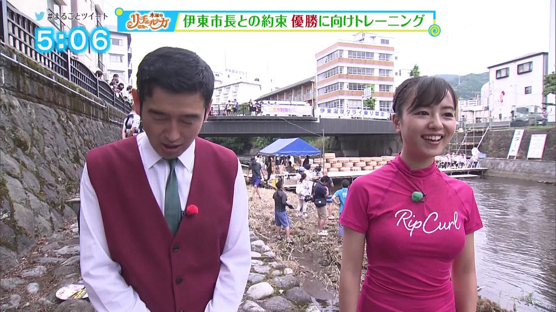 静岡の山田桃子アナ(26)が、ウエットスーツでおっぱい強調!!