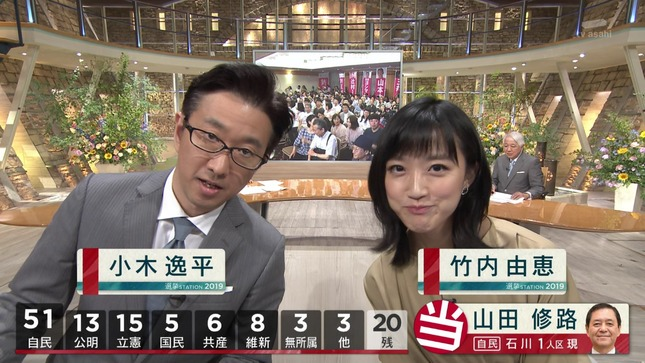 竹内由恵 報道ステーション 選挙ステーション2019 7