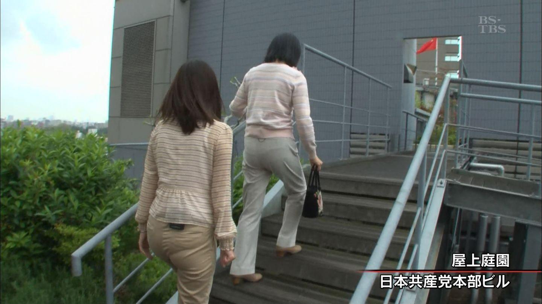 女子アナ パン線 岡村仁美 週刊BS-TBS報道部 07