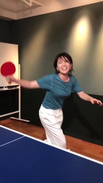 大橋未歩 Twitter 卓球 12