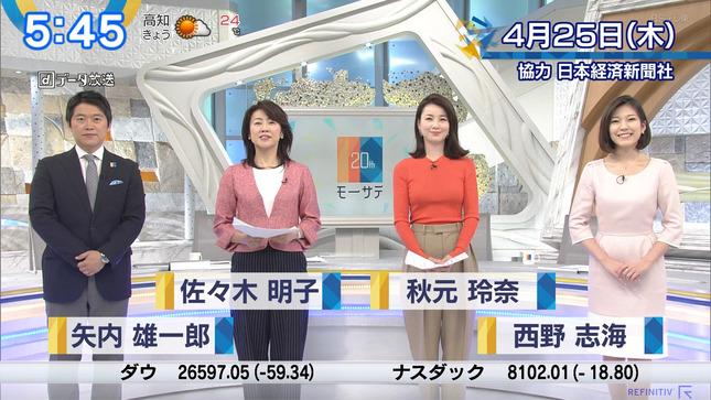 秋元玲奈 ニュースモーニングサテライト 1