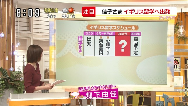 畑下由佳 スッキリ!! 深層NEWS 4