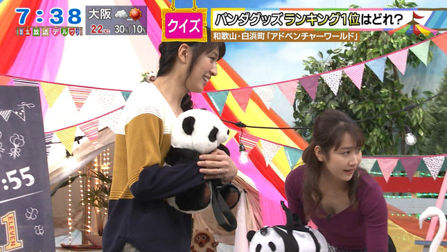 名古屋の新人・島津咲苗アナと鈴木ちなみ・浅尾美和が谷間チラ!!