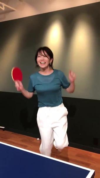 大橋未歩 Twitter 卓球 16