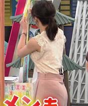 ●【画像23枚】赤木野々花アナ 透け透け! 脇! パン線!!