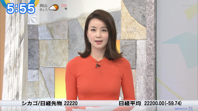 秋元玲奈 ニュースモーニングサテライト 4