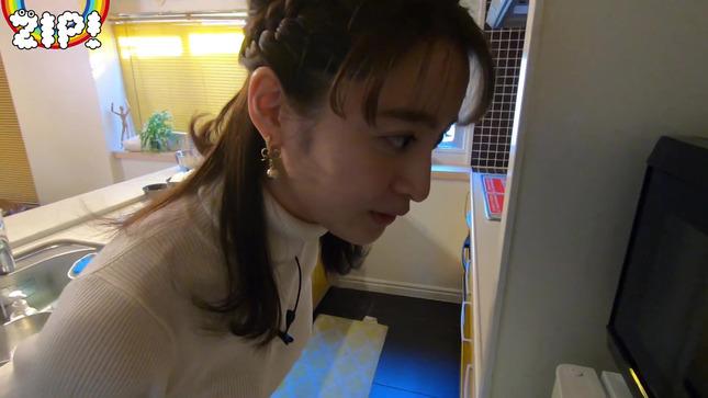 後呂有紗アナとクッキングデート「ごはんでおせんべい作ってみた」15