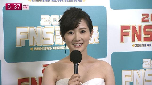 高島彩 加藤綾子 2014 FNS歌謡祭 10