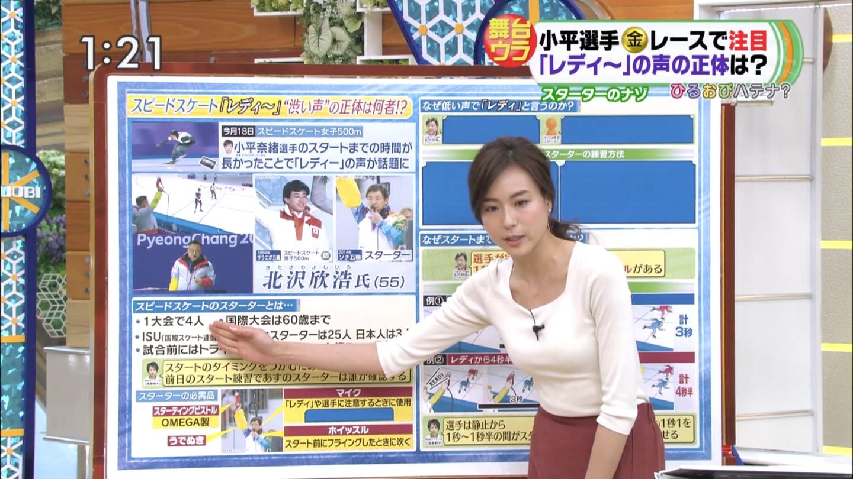 笹川友里アナ おっぱい強調衣装!