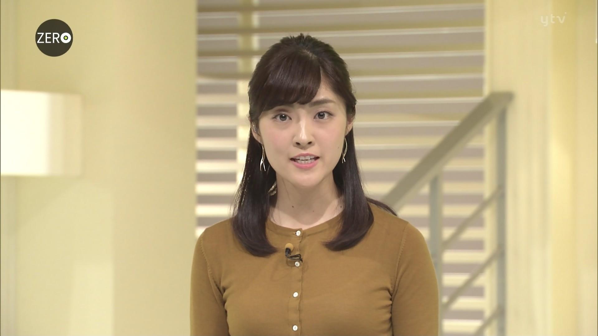 岩本乃蒼アナ ピチピチ美巨乳に透けたインナー☆