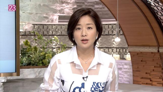【有名人,素人画像】膳場貴子アナが透け透け衣装で復帰☆