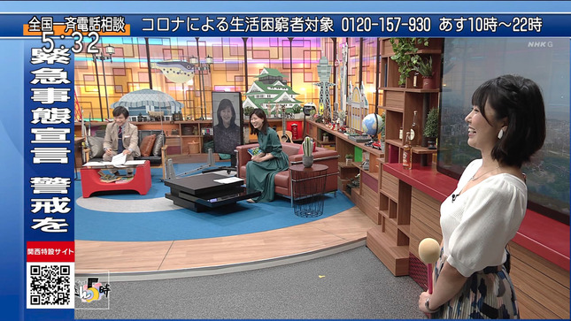 塩見泰子 ニュースきん5時 13