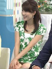 郡司恭子アナ完全にパンチラだった。。