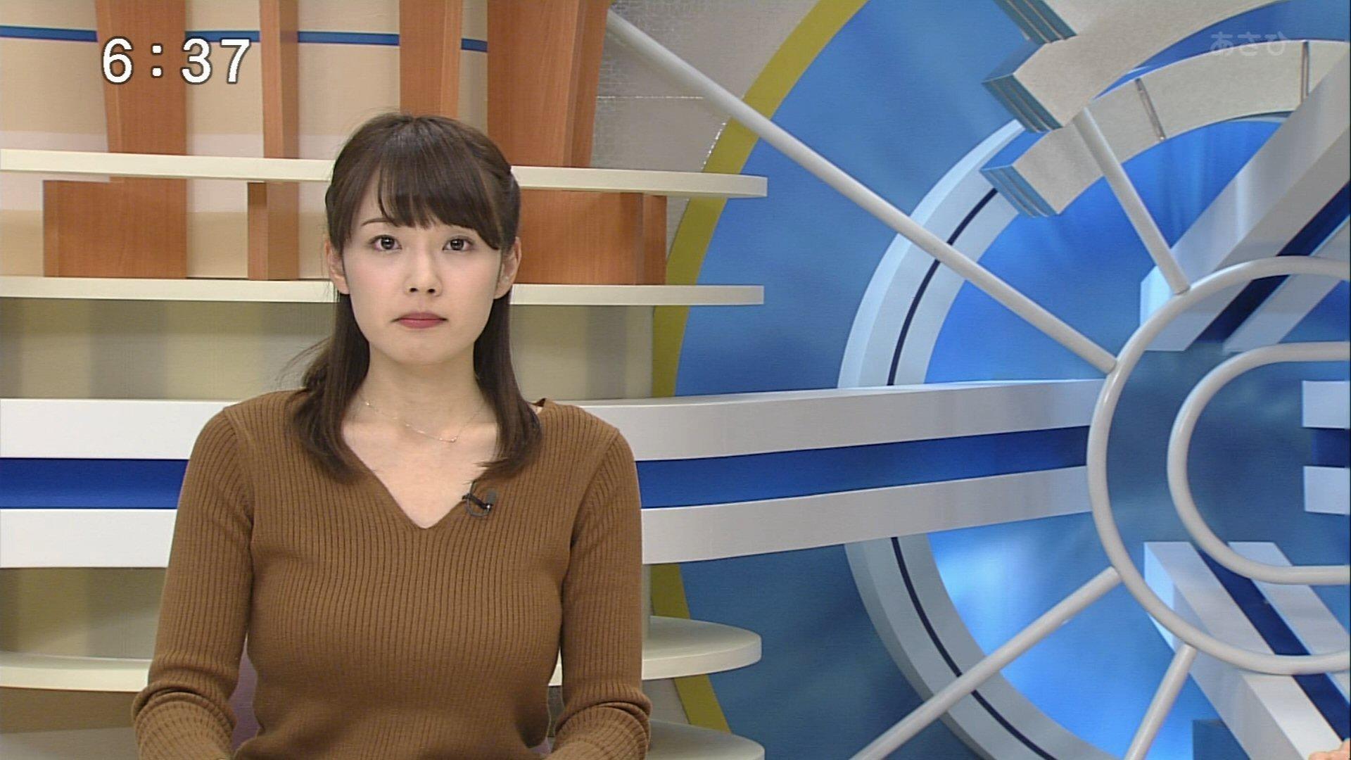 赤間優美子アナ 美巨乳ニット☆