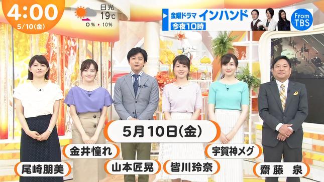 宇賀神メグ サンデー・ジャポン はやドキ! JNNニュース 7