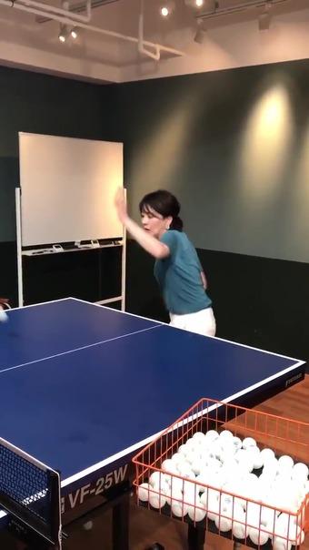 大橋未歩 Twitter 卓球 6