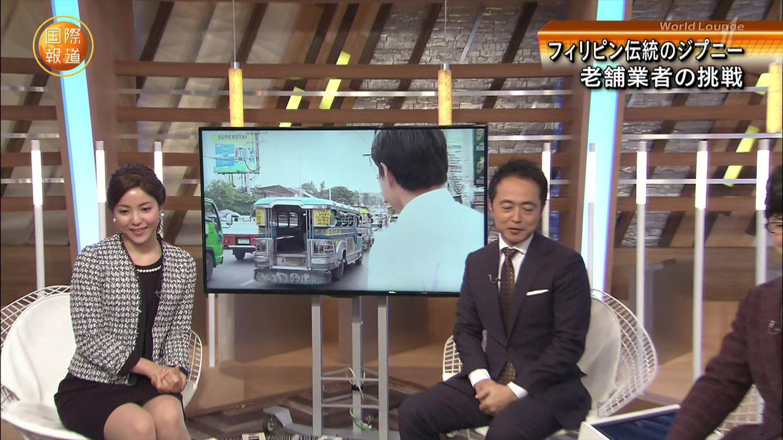 増井渚アナ ムチムチ太もも▼ゾーン!