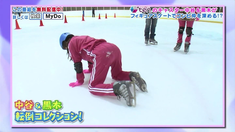 中谷しのぶアナ・黒木千晶アナ フィギュアスケートで恥ずかしい格好!
