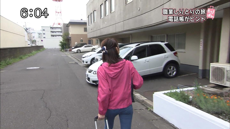 小山悠里アナ(26) ピタパンのお尻にパン線!