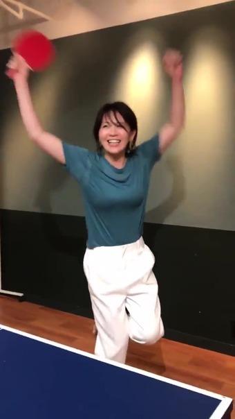 大橋未歩 Twitter 卓球 14