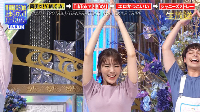 THE MUSIC DAY 2021 滝菜月 貴島明日香 市來玲奈 15