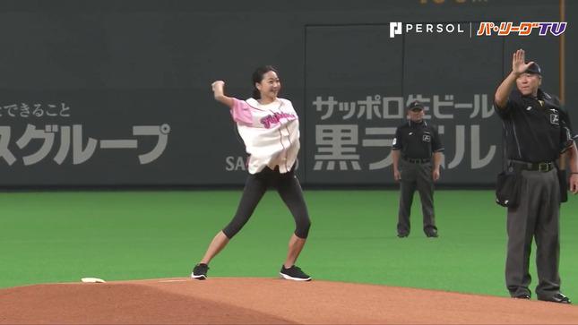 畠山愛理 日本ハム-巨人 始球式 25