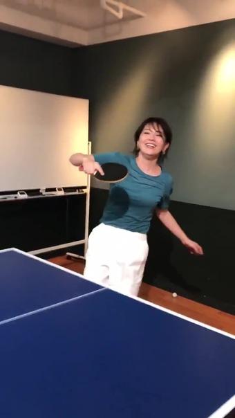大橋未歩 Twitter 卓球 10