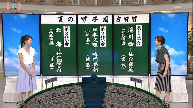 紀真耶 高島彩 サタデーステーション ロクメシ 2