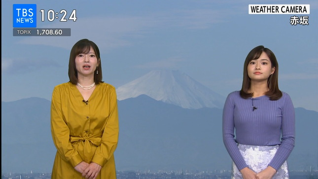 篠原梨菜 TBSニュース 1番だけが知っている 8