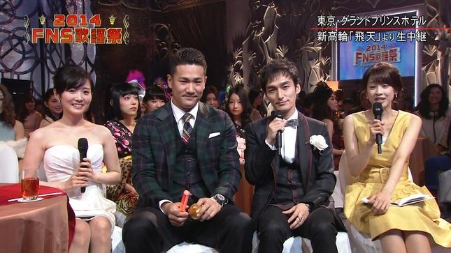 高島彩 加藤綾子 2014 FNS歌謡祭 06