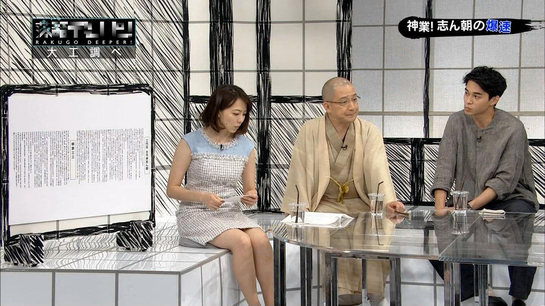 雨宮萌果アナ ミニスカノースリーブ & ニット乳!