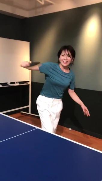 大橋未歩 Twitter 卓球 11