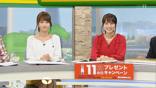 高見侑里 高田秋 BSイレブン競馬中継 20