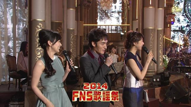 高島彩 加藤綾子 2014 FNS歌謡祭 18