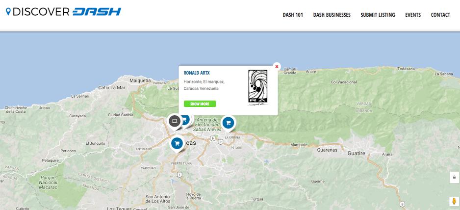 DASH:ベネズエラで80店舗が受け付け、新たに取引所にも上場