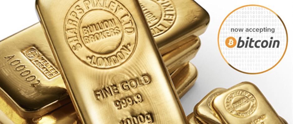 ロンドン大手ゴールド(金)販売業者Sharps Pixley、ビットコイン支払いを受け付け開始