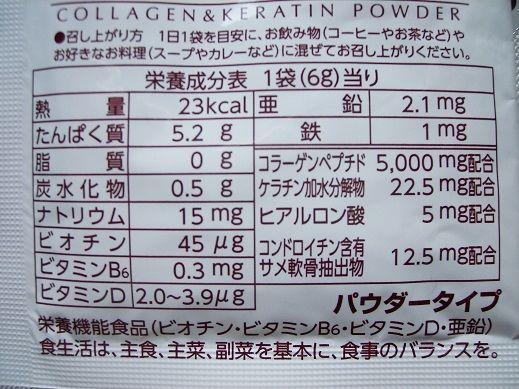 コラーゲン 粉末 成分