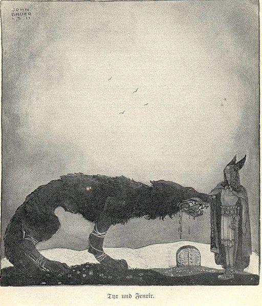 Tyr and Fenrir-John Bauer